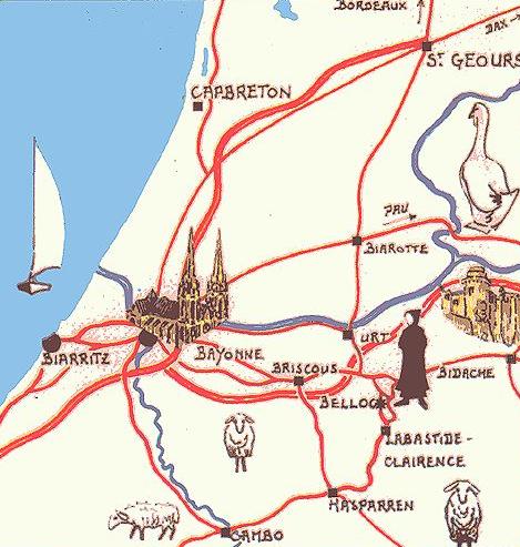 vie monastique - plan d'accès à l'abbaye Notre Dame de Belloc