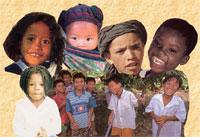 Visages d'enfants du monde