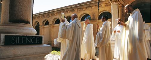 vie monastique - séjours, retraites à l'abbaye de lérins