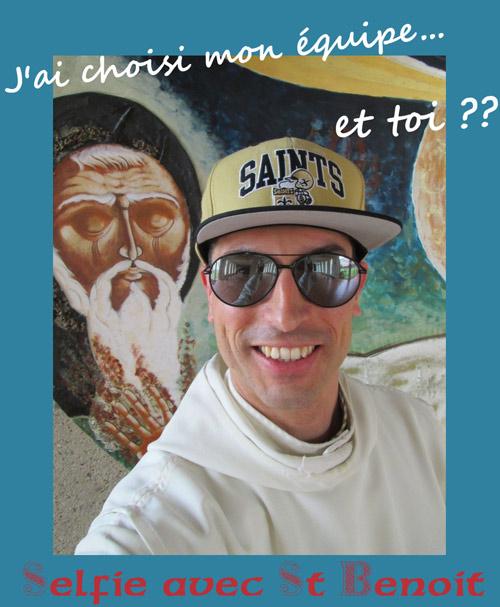 Selfie avec St Benoit OKpet