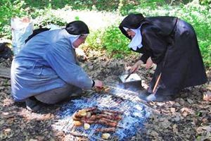 Barbecue au Monastère La Paix Notre Dame
