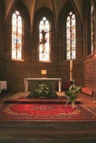 Photo Rosheim jardin église monastère strasbourg church alsace soeurs bénédictines