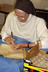 vie monastique - le travail au monastère saint joseph de brou