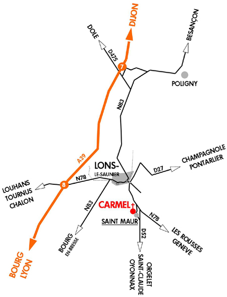 carmel saint-maur plan d'accès
