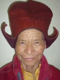 Visage de nonne boudhiste