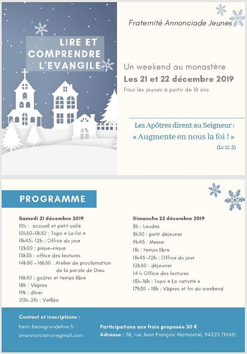WEEK END FAJ DEC. 2019